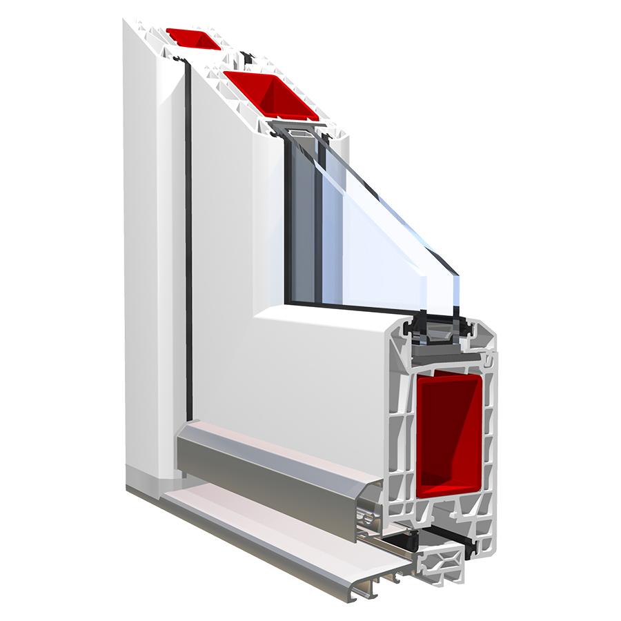 Система KBE_70 для квартирных, балконных и террасных дверей